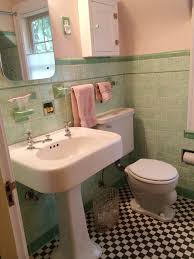 Mint Green Bathroom by See Jane Design A Vintage Style Green And Pink Tile Bathroom For