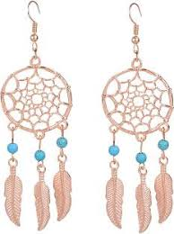 one side feather earring feather earrings buy feather earrings online at best prices