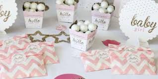 baby shower themes for girl baby shower girl themes pics hello one pink and gold girl