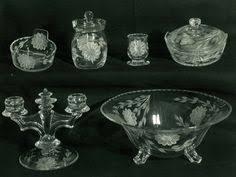 Hughes Cornflower Crystal Cordials W J Hughes Corn Flower Cornflower Crystal Platter 31 Crystal