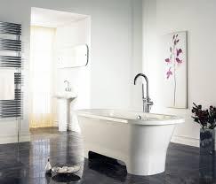 bathroom cool white freestanding tub white window curtain indian