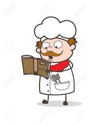 cuisine dessin animé livre de recettes de dessin animé chef de cuisine pour la cuisine