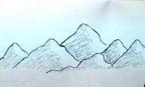 how to sketch mountain range very easy and quick tutorial for