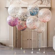 inflated balloons delivered 12inch confetti balloon balloon wedding decoration