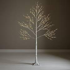 buy john lewis pre lit paper birch christmas tree white 6ft