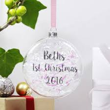 Baby S First Christmas Bauble Pink by Baby U0027s First Christmas My 1st Christmas Notonthehighstreet Com