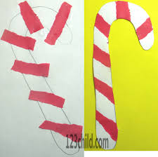 cute way for prek to be able to do candy canes glue the strips