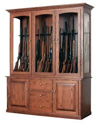 Built In Gun Cabinet Plans Wood Gun Cabinets At Dutchcrafters Amish Furniture