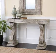Shabby Chic Console Table Uttermost Distressed Console Table And Matching Mirror Shabby