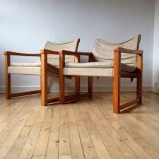 karin mobring easy chairs diana pine and canvas etsyshop