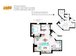 seinfeld apartment floor plan tv s most famus floor plans