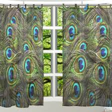Peacock Curtains Amazon Com Alaza 2 Pcs Ultra Luxurious Window Decoration Sheer