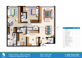 floor plan of 3 bedroom flat floor plans ocean terrace marina square al reem island