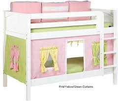Bunk Bed Attachments Maxtrix Bunk Bed Tents For Pink Green And Yellow 3220 025