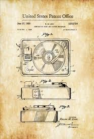 record player patent 1950 patent print wall decor record