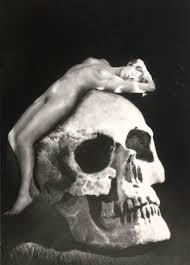 goth gothic home decor wall art skull art photography print
