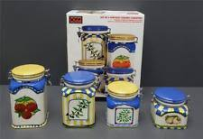oggi kitchen canisters oggi ceramic kitchen canisters jars ebay