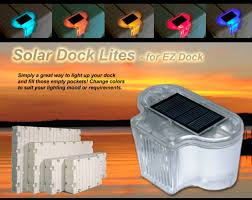 solar dock lights solar lighting