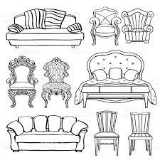 Armchair Sofa Bed Furniture Set Armchair Sofa Bed Chair Throne Stock Vector Art