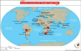 world map of capital cities are there countries with capital cities answers