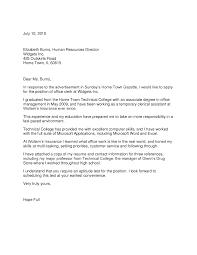 Cover Letter For College Employment Strategic Advisor Cover Letter