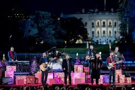 2017 national christmas tree lighting national christmas tree lit by trump and family