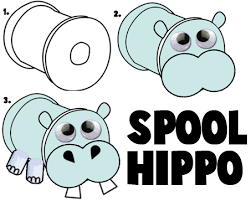 coloring extraordinary hippopotamus crafts paper plate