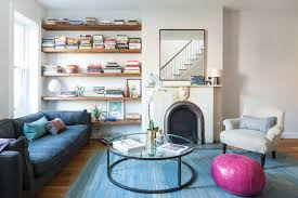 park slope brooklyn rowhouse transitional living room new