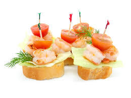 canapé made in canape made from shrimp stock image image of small bread 18295625