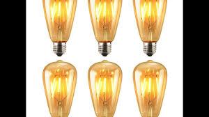 pack of 6 led edison bulb keeda 6w youtube