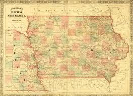 map of iowa 1864 johnson map of iowa ames historical society