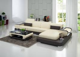 Small Living Room Leather Furniture White Leather Sofa With Arms - Small leather sofas for small rooms