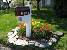 Easy Backyard Landscape Ideas Front Yard Mailbox Gardens Mailbox Post Landscaping And
