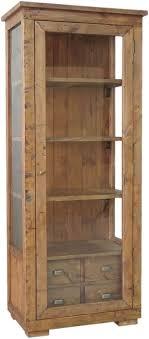 rustic wood display cabinet buy gullane rustic reclaimed wood glazed display cabinet 1 door 4