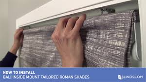 Bali Vertical Blinds Installation How To Install Bali Tailored Roman Shades Inside Mount Video