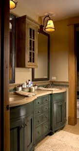 Lodge Style Bathroom Secluded Colorado Log Cabin Photos Mountain States Log Cabins