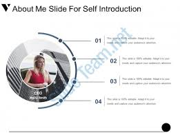 About Me Slide For Self Introduction Exle Of Ppt Powerpoint Ppt Powerpoint