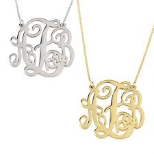 monogram necklace pendant monogrammed necklace