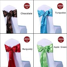 sash ribbon satin chair sashes chair sash bow of wedding satin ribbon cloth