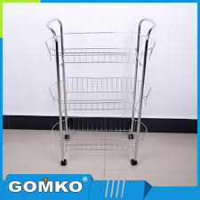 Metal Wire Shelving by 3 Tier Stainless Steel Wire Shelving Food Cart Kitchen Accessories