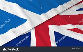flags scotland united kingdom split scottish stock illustration