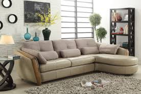 Top Grain Leather Sectional Sofa Wilko Taupe Top Grain Leather Sectional Sofa