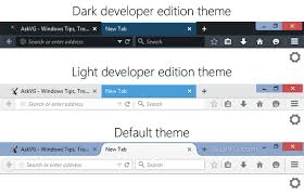 change themes on mozilla tip enable hidden secret dark and light themes in mozilla firefox