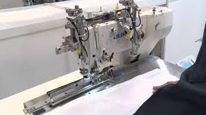 juki lbh 1796a buttonholing machine for men u0027s shirts youtube