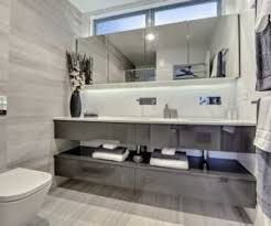 Gray Purple Bathroom - sophisticated bathroom designs that use marble to stay trendy