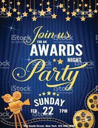 movie night invitations template movie awards night party invitation template stock vector art