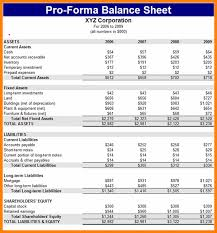 Pro Forma Financial Statements Excel Template 6 Pro Forma Financial Statements Excel Template Statement 2017