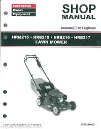 honda lawn mower manuals repair manuals online