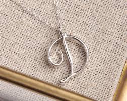 Custom Silver Pendants Letter D Necklace