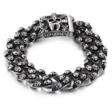 black chain bracelet images Badass skulls chain bracelet vip skull jpg